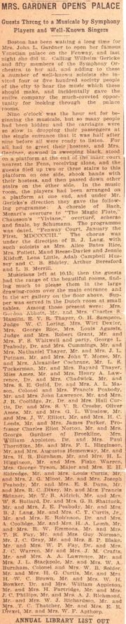 Opening Night 1903